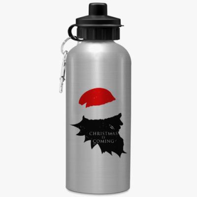 Спортивная бутылка/фляжка Christmas is coming