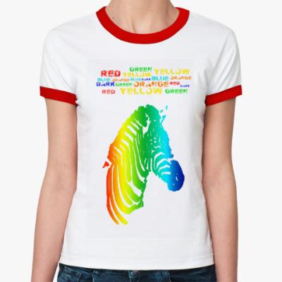 Женская футболка Ringer-T Colour dreams