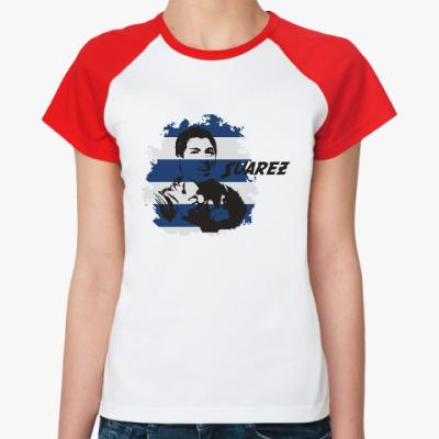 Женская футболка реглан Суарес