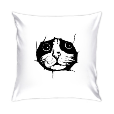 Подушка Любопытный кот