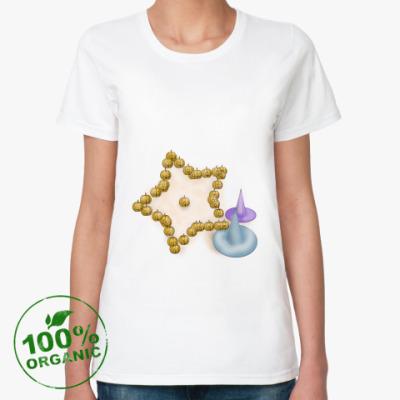 Женская футболка из органик-хлопка Хэллоуинская звёздочка
