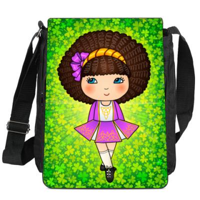 Сумка-планшет Ирландская девочка в клеверах