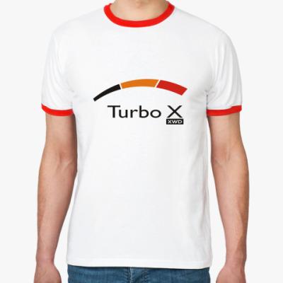 Футболка Ringer-T   TURBO X