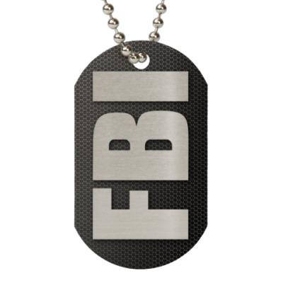 Жетон dog-tag FBI