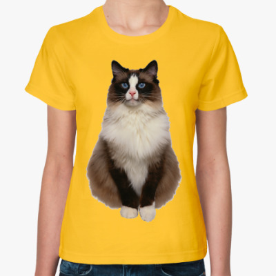 Женская футболка Blue Eyed Cat