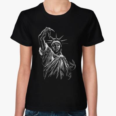 Женская футболка Американская свобода