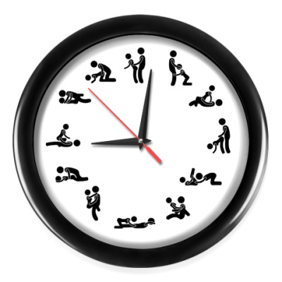 Настенные часы Секс камасутра.
