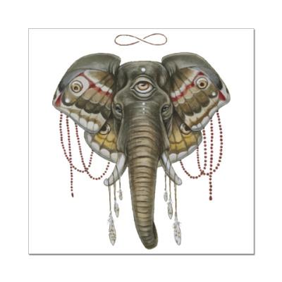 Наклейка (стикер) Индийский слон