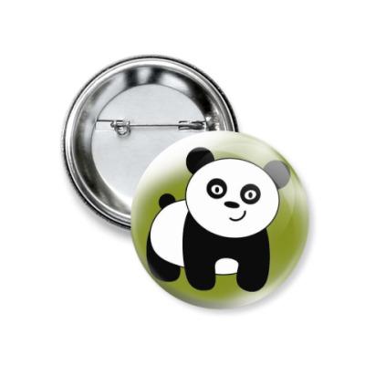 Значок 37мм Панда