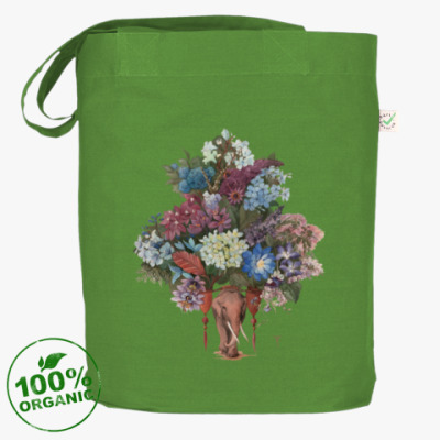 Сумка Цветы и слоны YarovitsynaArt