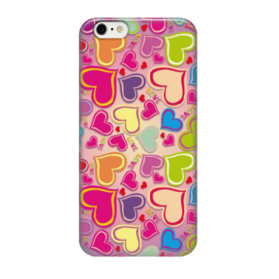 Чехол для iPhone 6/6s сердечки