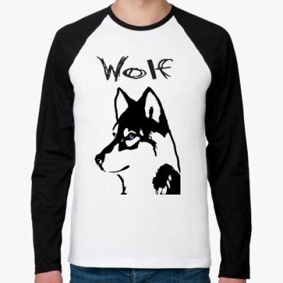 Футболка реглан с длинным рукавом Wolf