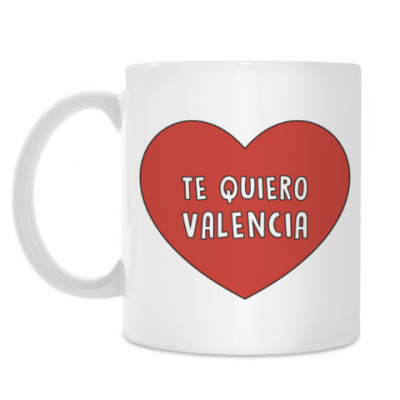 Кружка Te quiero Valencia