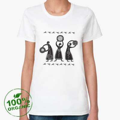 Женская футболка из органик-хлопка ШАМАНЫ