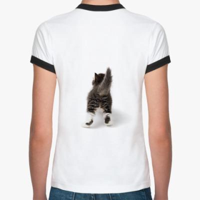Женская футболка Ringer-T Котенок
