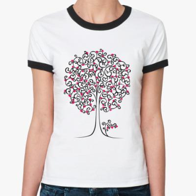 Женская футболка Ringer-T Heart Tree