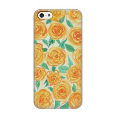 Чехол для iPhone 5/5s Желтые розы