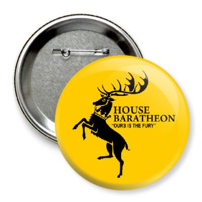 Значок 75мм House Baratheon
