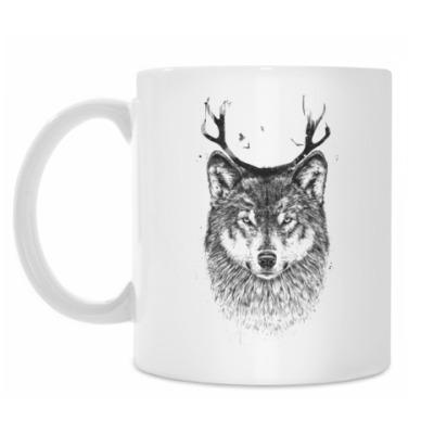 Кружка Волк с рогами