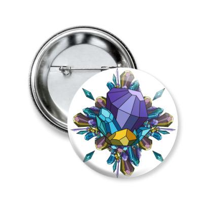 Значок 50мм Crystal