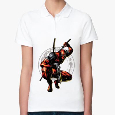 Женская рубашка поло deadpool