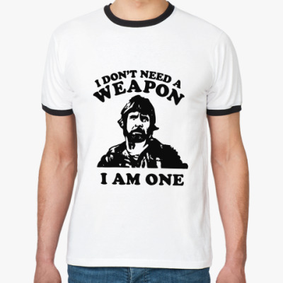 Футболка Ringer-T Chuck Norris