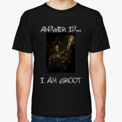 Футболка answer is i am groot