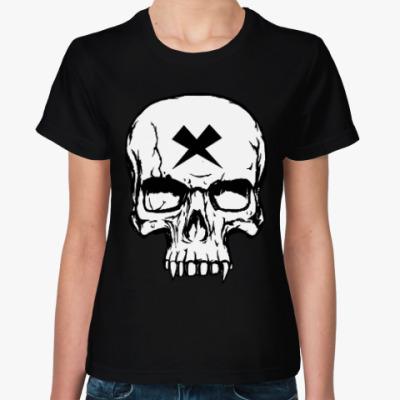 Женская футболка Vampire Skull