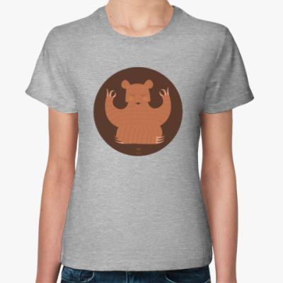 Женская футболка Animal Zen: B is for Bear