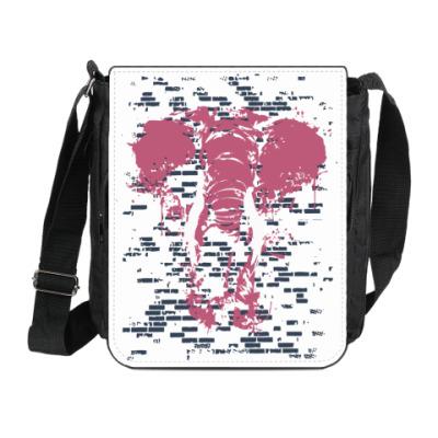 Сумка на плечо (мини-планшет) Слон в стене