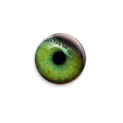 Значок 25мм  'Зелёный глаз'