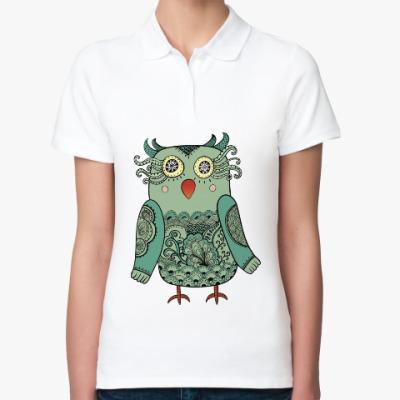 Женская рубашка поло Лесная совушка