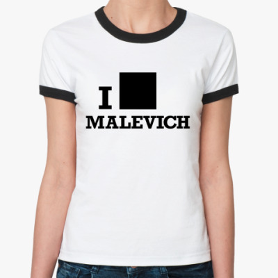 Женская футболка Ringer-T  Malevich