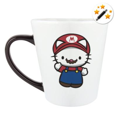 Кружка-хамелеон Китти Марио
