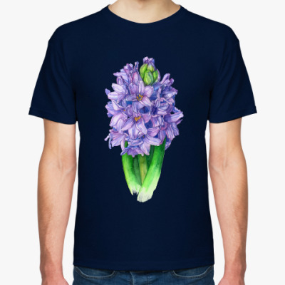 Футболка Цветок гиацинт акварель