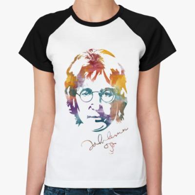 Женская футболка реглан The Beatles - John Lennon