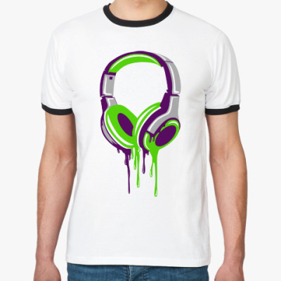 Футболка Ringer-T наушники  headphones