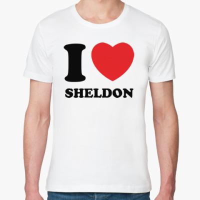 Футболка из органик-хлопка I Love Sheldon