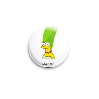 Значок 25мм  Мардж Симпсон