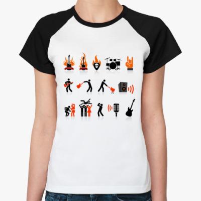 Женская футболка реглан Rock Show