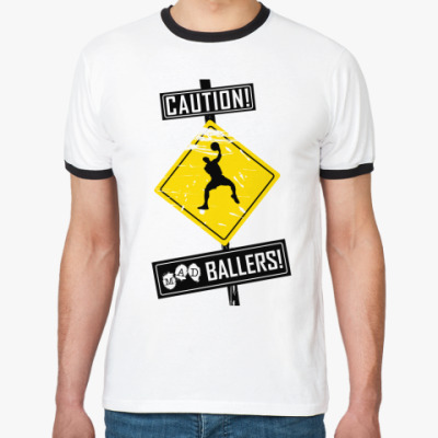 Футболка Ringer-T CAUTION