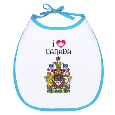 Слюнявчик I love Canada