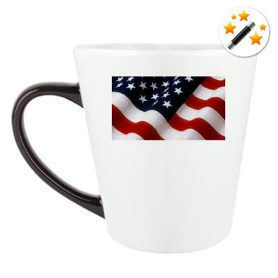 Кружка-хамелеон Флаг USA
