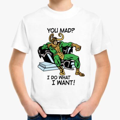 Детская футболка  Мстители Локи