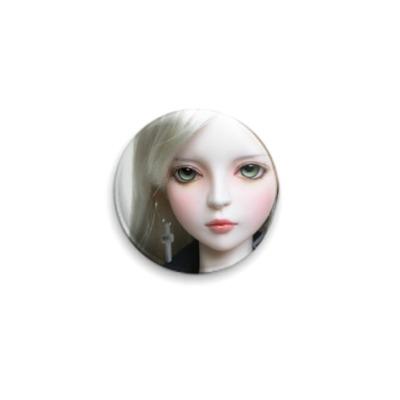 Значок 25мм  Кукла