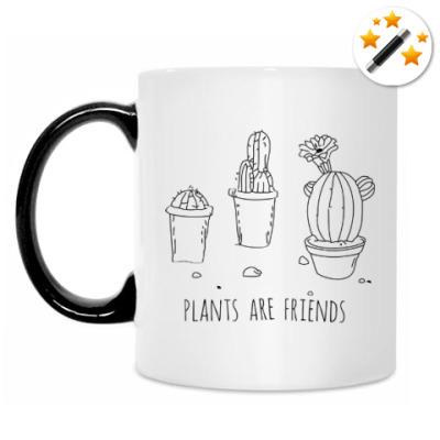 Кружка-хамелеон Plants are friends
