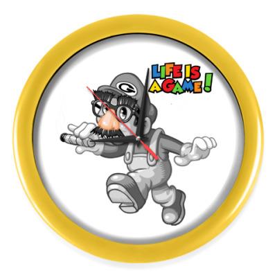 Настенные часы Марио - жизнь игра