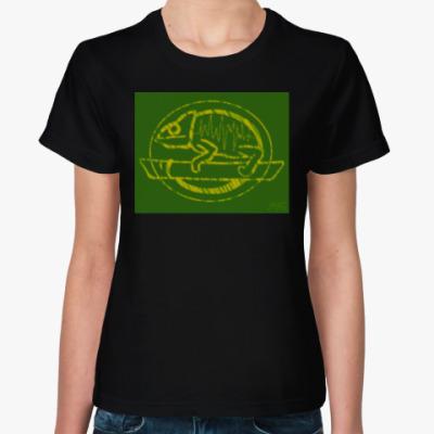 Женская футболка Хамелеон