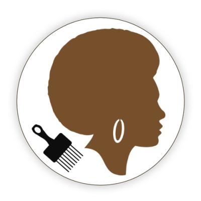 Костер (подставка под кружку) Afro Lady
