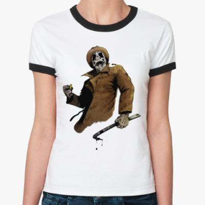 Женская футболка Ringer-T Rorchach (Роршах)